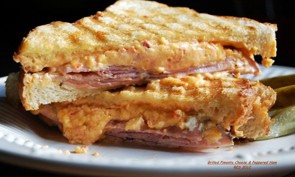 Grilled Pimento Cheese & Peppered Ham Sandwiches | Cucina Magia