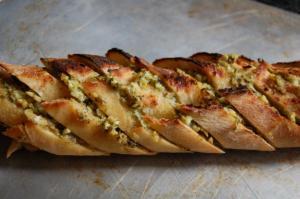 Baked Artichoke Herb Feta Loaf