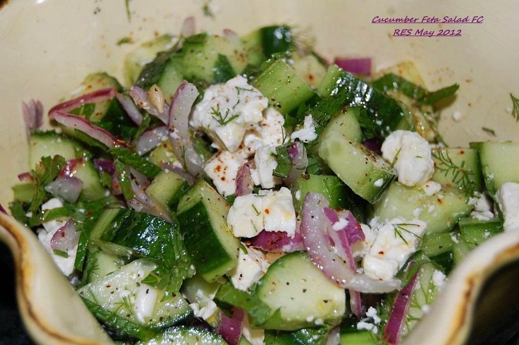 and cucumber salad recipe with mint feta lemon and thyme cucumber feta ...