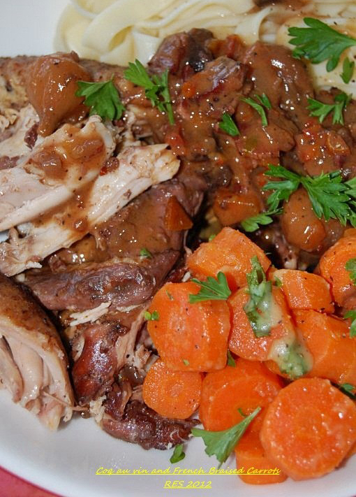 Coq au vin and French Braised Carrots