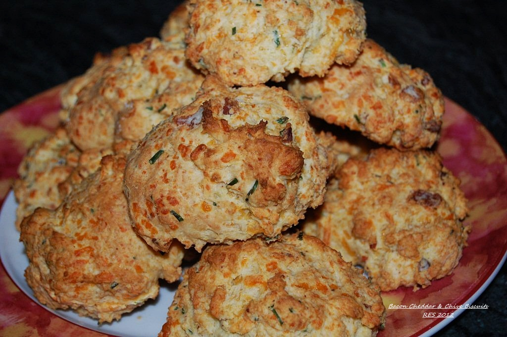 Cheddar, Bacon and Chive Biscuits