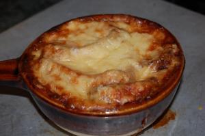 Salad Nicoise and French Onion SoupI