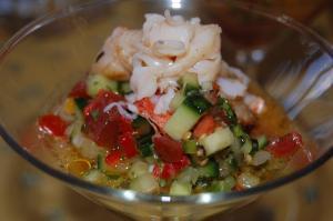 Grilled Lobster Gazpacho II