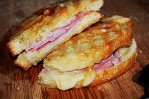Grilled Ham and Cheese and Tomato Soup