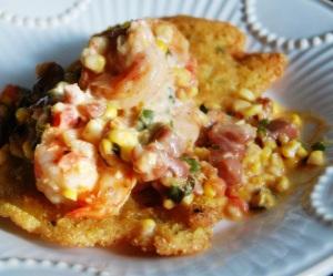 Shrimp Tasso and Okra Corn Cakes II