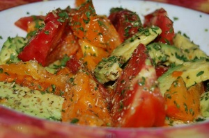 Tomatoes and Avacado Frontera-styleIII