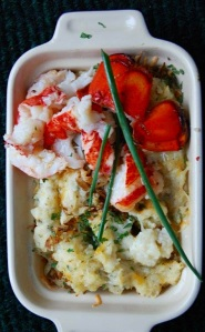 Lobster Tails - Grilled with Twice bake potato Casserole  jpg