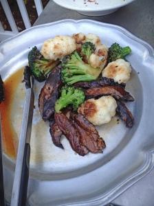 Grilled Broccoli, Cauliflower and Portobello Mushrooms