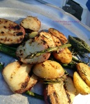 Grilled Potatoes and Asparagus I