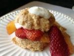 Peach and Strawberry Shortcakes I