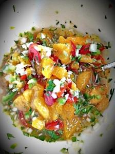 Soft Shell Crabs and Mandarin Salsa