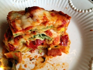 Roasted Vegetable Baked Ravioli Lasagna 2