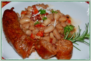 Braised Cannellini Beans with Sausage 3