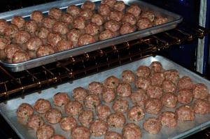 Italian meatballs for soup.