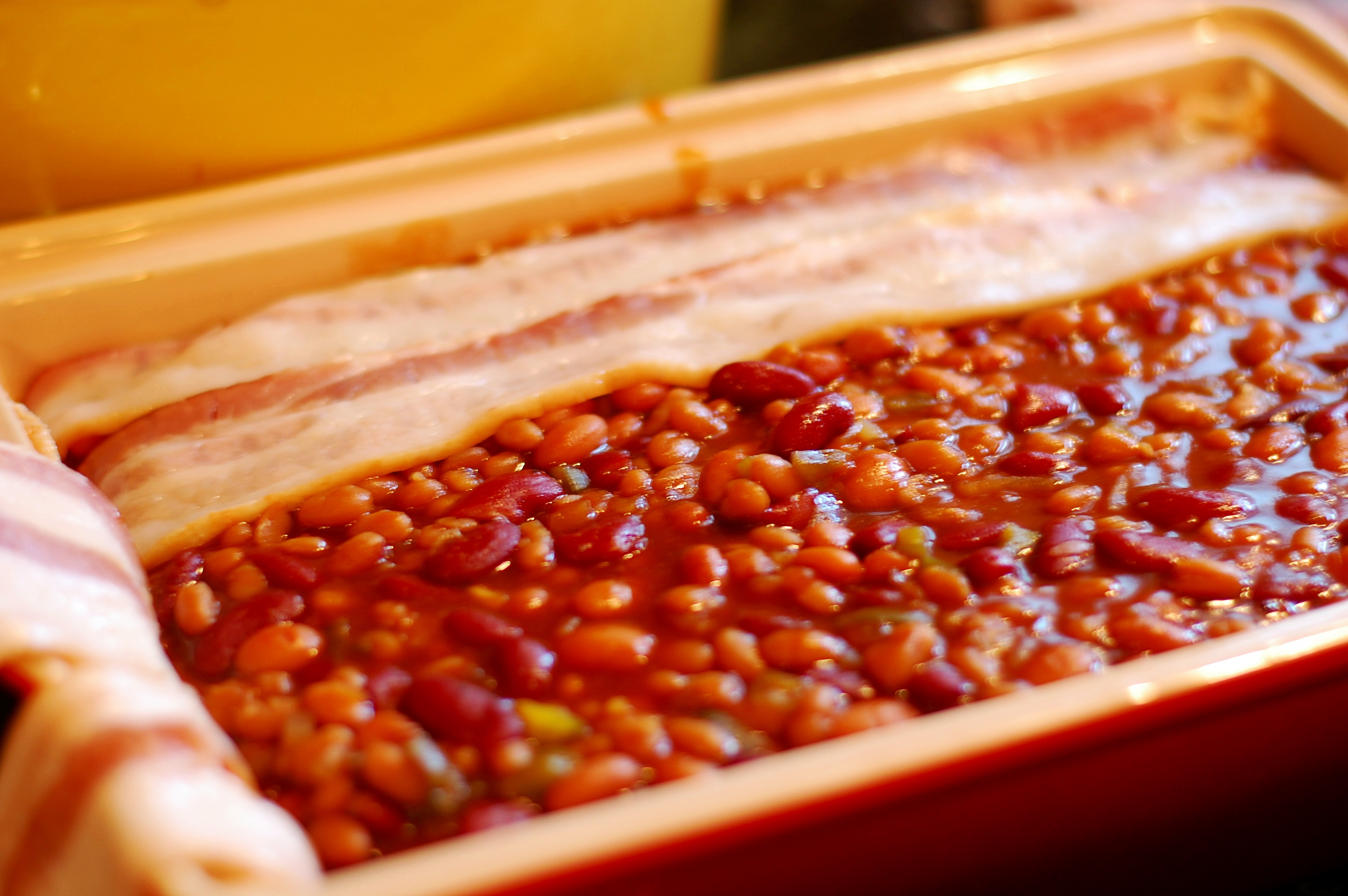 Baked Three-Bean Casserole with Crispy Bacon – Cucina Magia
