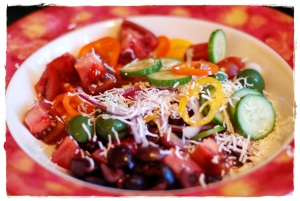 Italian Tomato and Cucumber salad 2