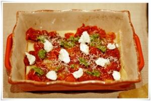 Roasted Tomatoand Pesto Lasagna I