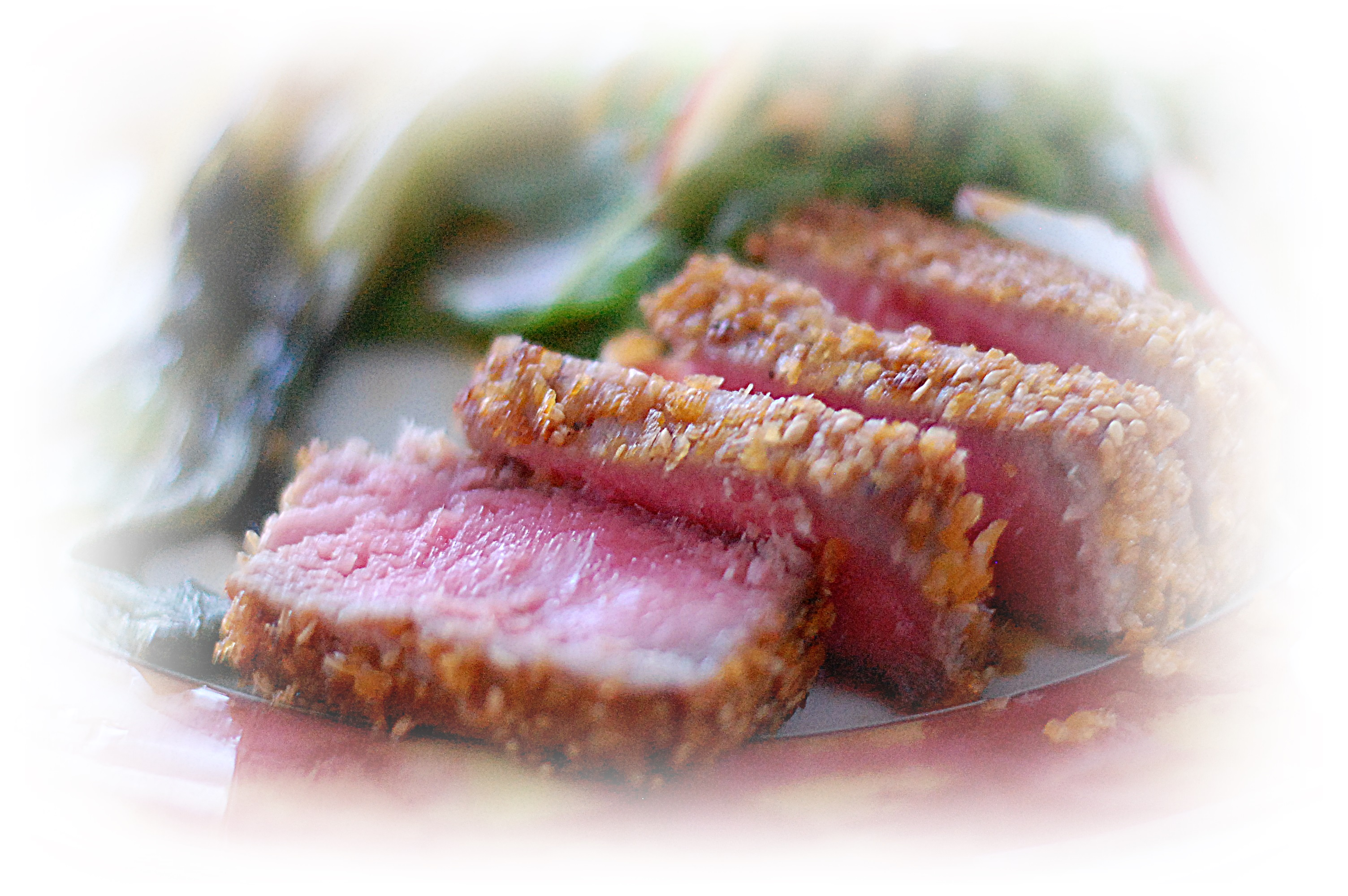 Seared Cornflake and Sesame Crusted Tuna – Cucina Magia
