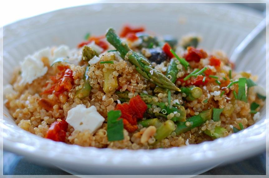 Quinoa and Asparagus salad 2