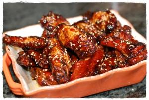 Sticky honey glazed Wings
