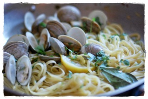One Pot Pasta with Clams