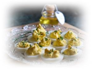 Truffled Deviled Eggs for Besh Dinner 2