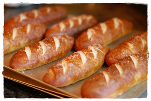 Pretzel Hot dog buns 2