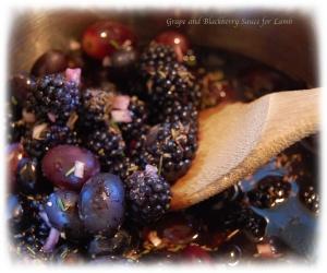 Grape and Blackberry Sauce
