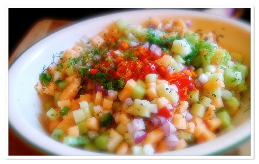 Canteloup salsa