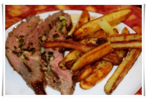 Faux Frites and Flank Steak