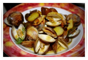 Clams and potatoes