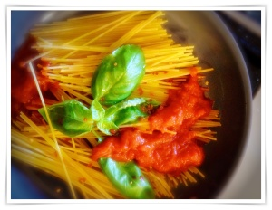One Pot Hazan spaghetti