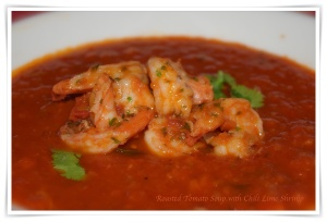 Roasted Tomato Shrimp Soup