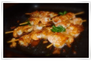 Prawns in Garlic and Chilies