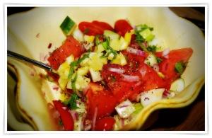1 Tomato and Cucumber Raita