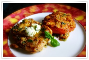 Chicken and baked tomato 2