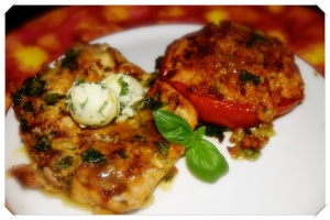 Chicken and Baked Tomatoes