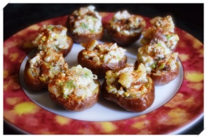 Stuffed baked potatoe bites 2
