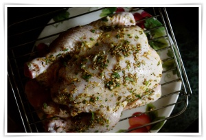 Fennel Roasted Beer Can chicken